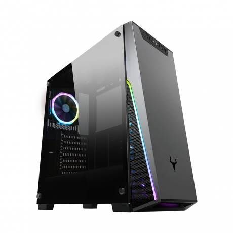 Case T-MASK - Gaming Middle Tower, 2xUSB3, 12cm ARGB fan, Side Panel Temp Glass