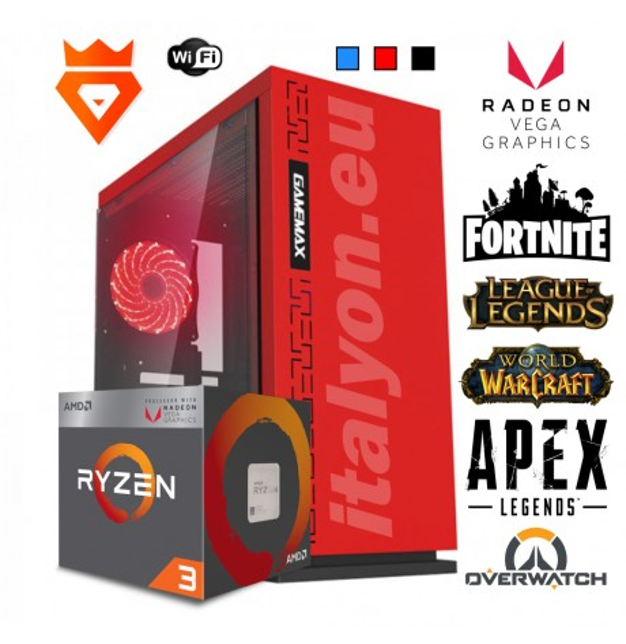 PC GAMING M32 XMax Ryzen 3200G - Radeon RX Vega 8 - SSD DDR4 Wi-Fi