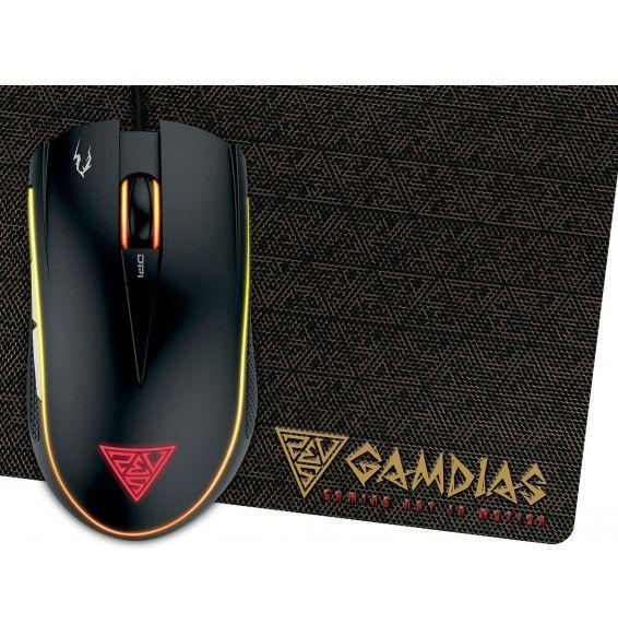 Mouse Gaming Gamdias Zeus E2 - 3200DPI MULTICOLOR + 6 TASTI + TAPPETINO