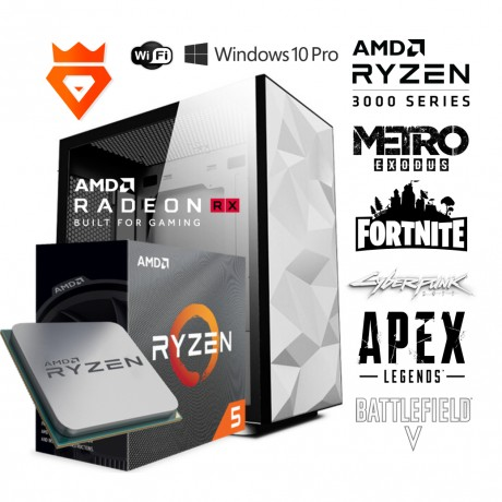 PC Gaming Polar Snow S3 AMD Ryzen 5 3600X - RADEON RX 5700XT - 16GB DDR4 3200 MHz - SSD M2 500GB