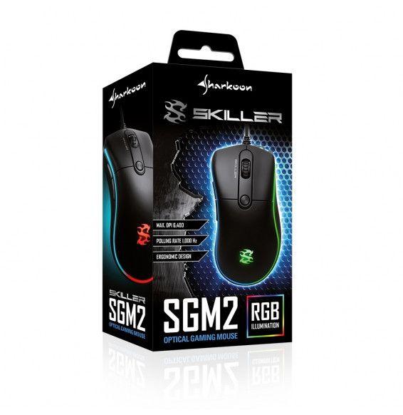 Mouse Gaming Sharkoon Skiller SGM2 RGB 6400dpi