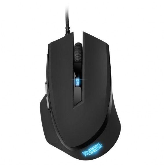 Mouse Gaming Sharkoon Shark Force II ottico Superficie gommata con 6 pulsanti usb 4200dpi