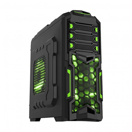 Case iTek Destroyer - Nero e Verde