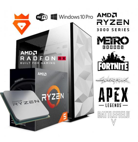 PC Gaming Polar Snow S0 AMD Ryzen 5 3600 - RADEON RX 580 - DDR4 3200 MHz - SSD 500GB