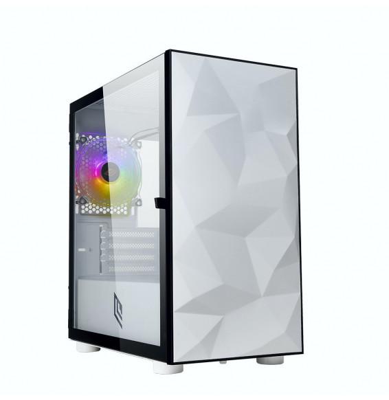Case Micro Tower Noua Fobia L9 White 0.60MM SPCC 3*USB3.0/2.0 1*Fan Bianca Rgb Rainbow Side Glass Chiusura Magnetica