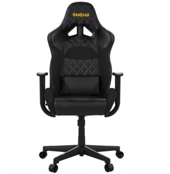 Sedia da Gaming GAMDIAS ZELUS E1 BLACK / BLACK - Reclinabile