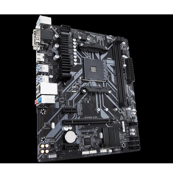 Scheda Madre Gigabyte AMD B450M S2H DVI-VGA-HDMI AM4