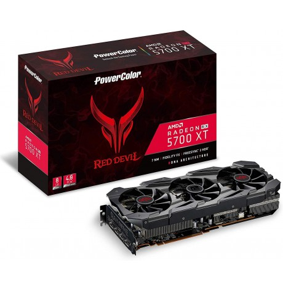 Scheda Video PowerColor - Scheda grafica AMD Radeon RX 5700 XT Red Devil 8GB GDDR6 HDMI/3xDP