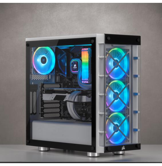 PC Gaming RGB CRS 09 AMD Ryzen 5 3600 4.2GHz - RADEON RX 590 OC - SSD M2 Liquid
