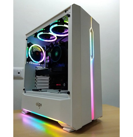 PC Gaming WRGB G2 AMD RYZEN 3 3300X Nvidia GTX 1660Ti 6GB - SSD 500GB M2 - DDR4 16GB - Liquid RGB