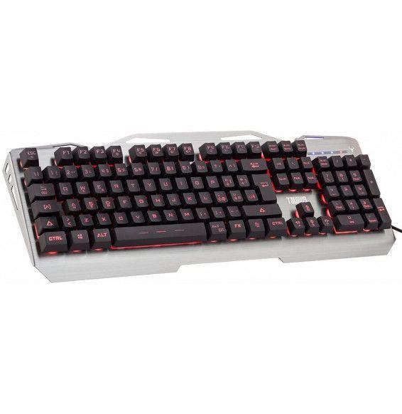 Tastiera PC Gaming TAURUS T17 - Retroilluminata 3 colori multimediale anti-ghosting cover e struttura in metallo