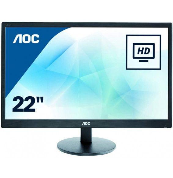 """Monitor AOC E2270SWDN LCD Monitor da 21.5"""" - 16 9 1920X1080 DVI-D VESA BLACK VGA"""