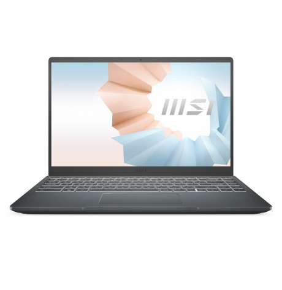 "Notebook MSI MODERN 14 B11MO (UHD Graphics) Carbon Grey 14""FHD IPS 60Hz Tiger Lake i3-1115G4 8GB 256GB NVMe SSD Win 10 Pro"