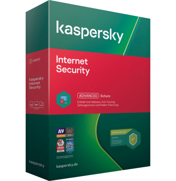 PC/MAC KASPERSKY INTERNET SECURITY 20 BOX - Software Antivirus - Versione Italiana