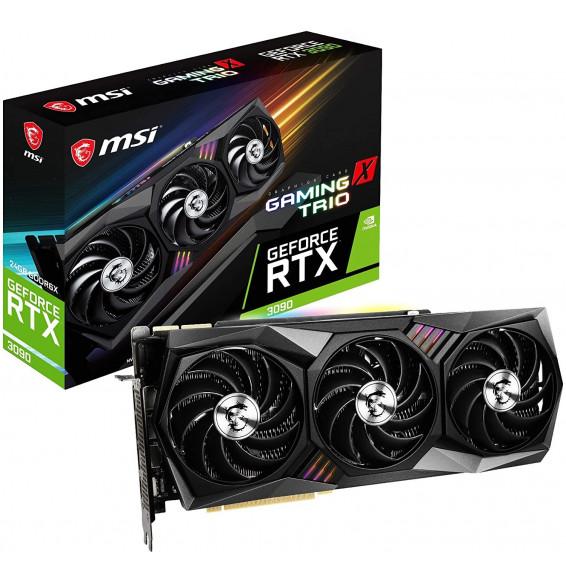 Scheda Video MSI GeForce RTX 3090 GAMING X TRIO 24GB TRI FROZR GDDR6X DisplayPort v1.4a HDMI 2.1