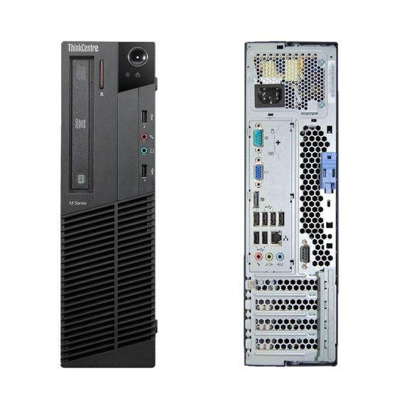 PC Fisso Desktop LENOVO M91p Intel i5 4Core 8GB 250GB HDD DVD Free Dos Refurbished